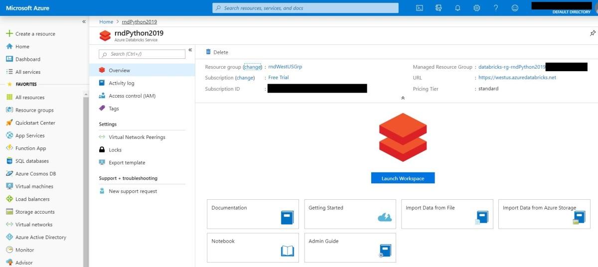 Building Azure Databricks Cluster installing desired